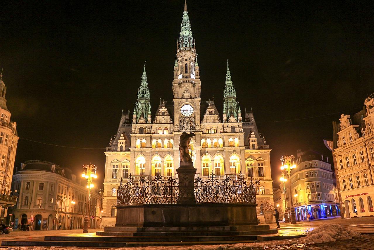 Radnice Liberec_noc
