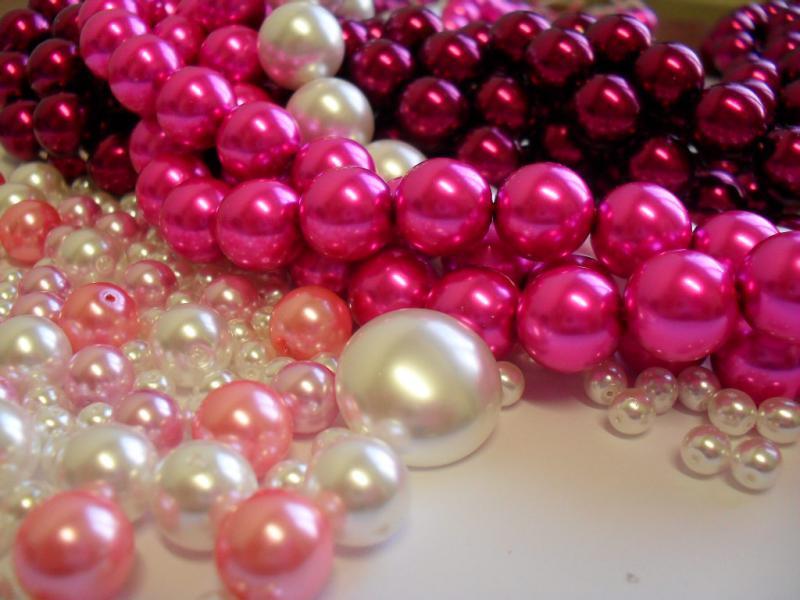 Skleněné voskované perle