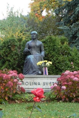 Pomník Karolíny Světlé, Světlá pod Ještědem