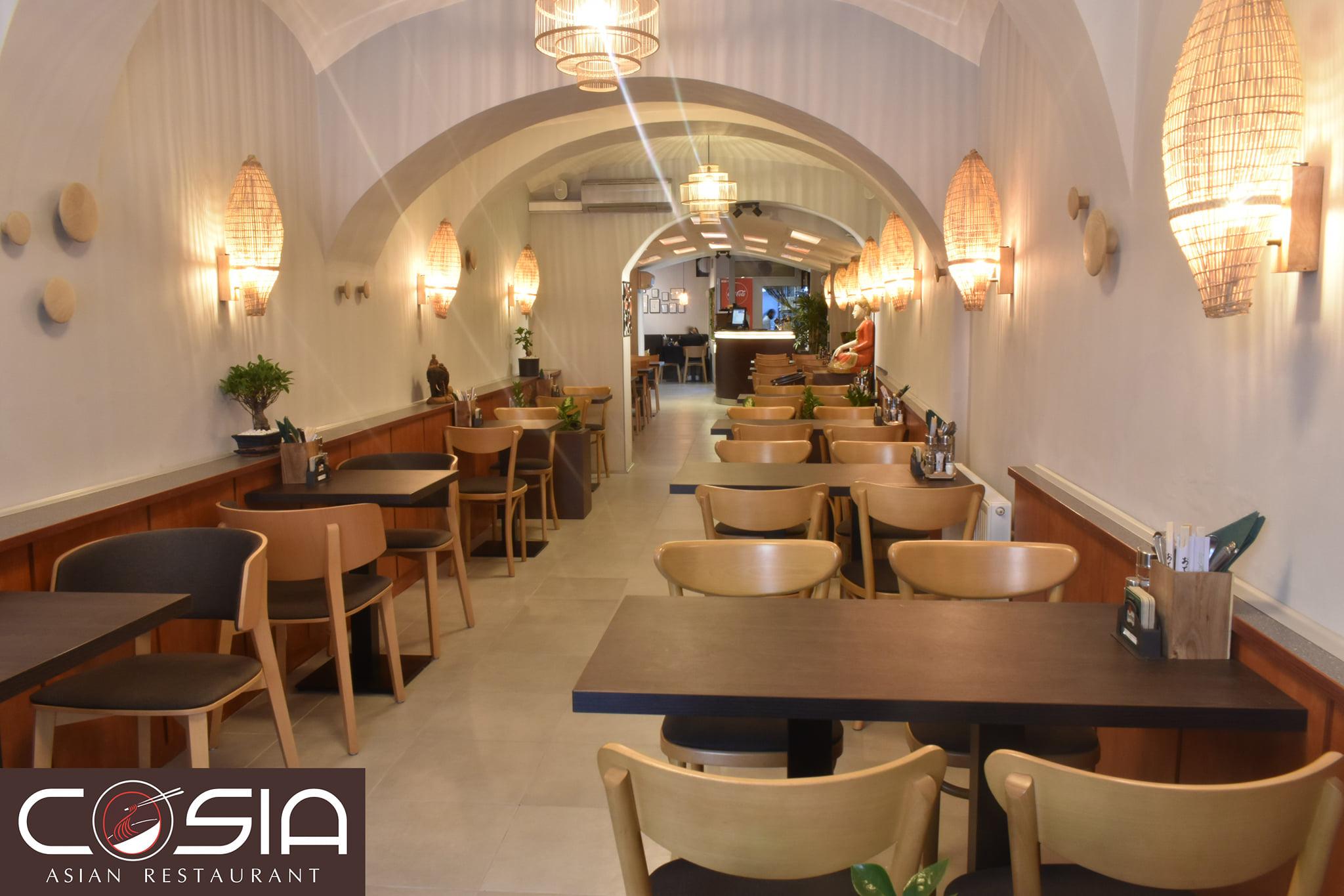 COSIA Asian restaurant interiér